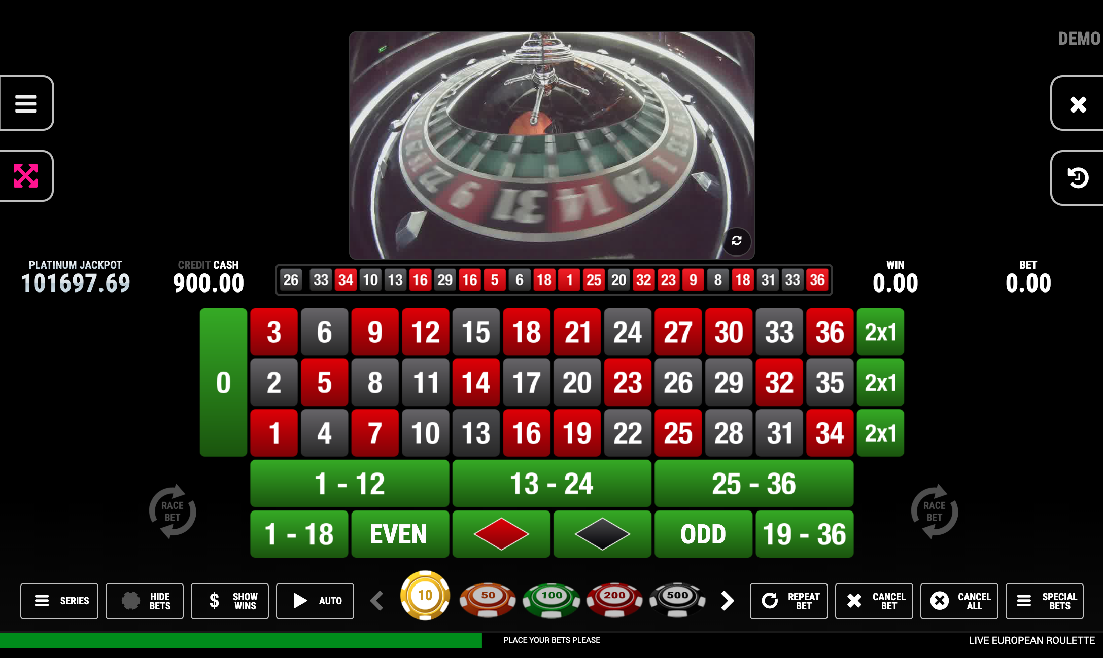 Live European Roulette Bspin