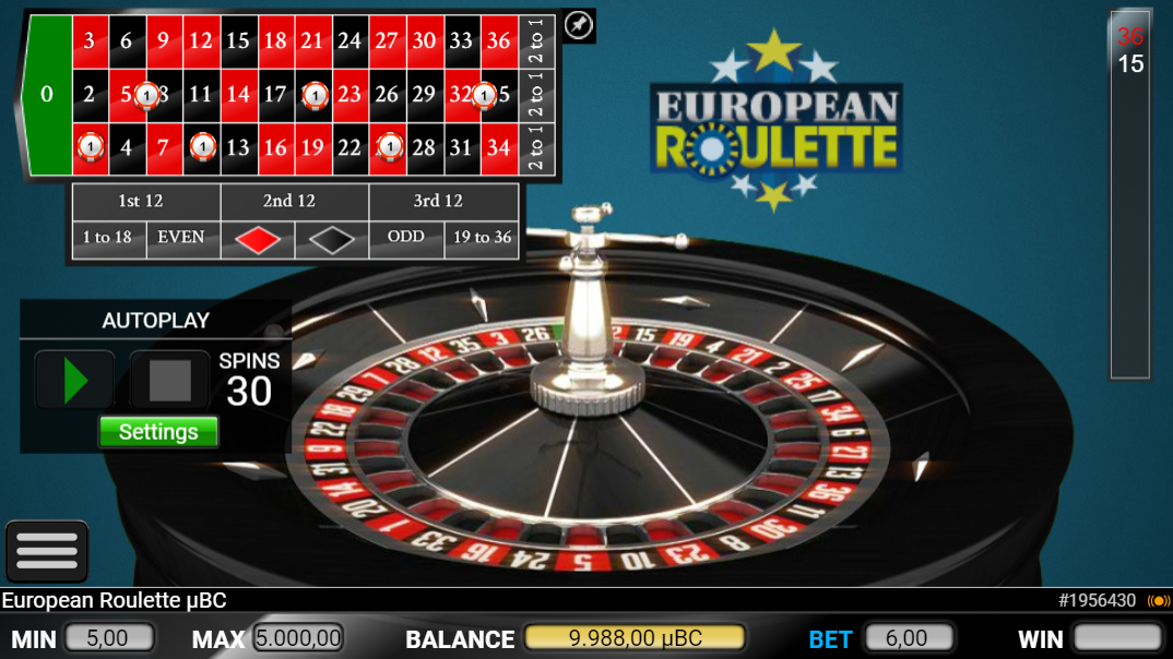 European Roulette on BSpin