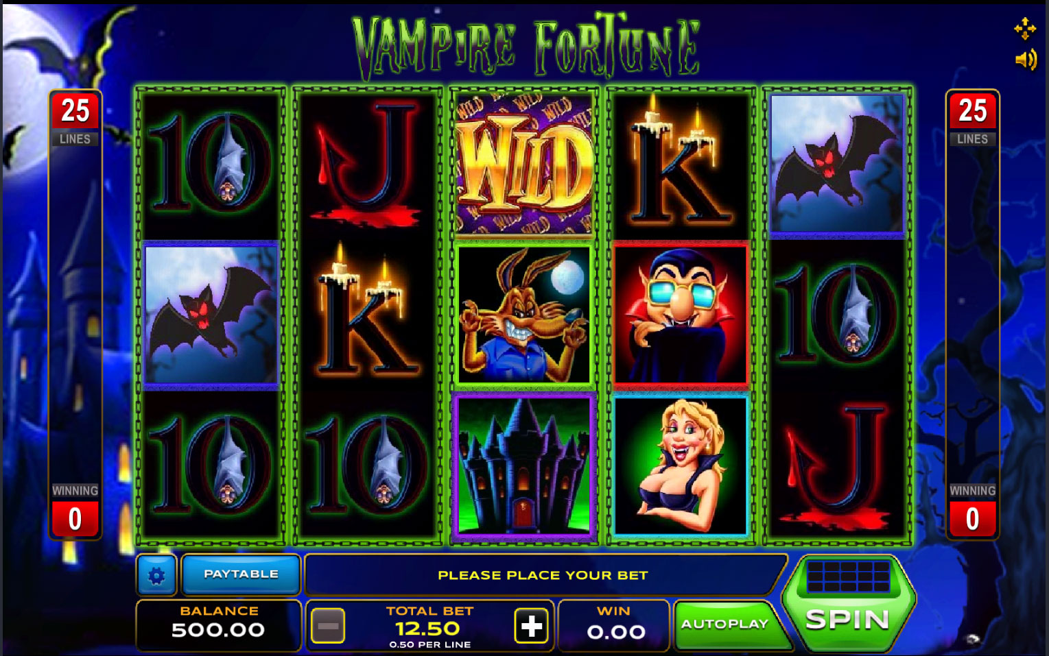 vampire fortune slot game