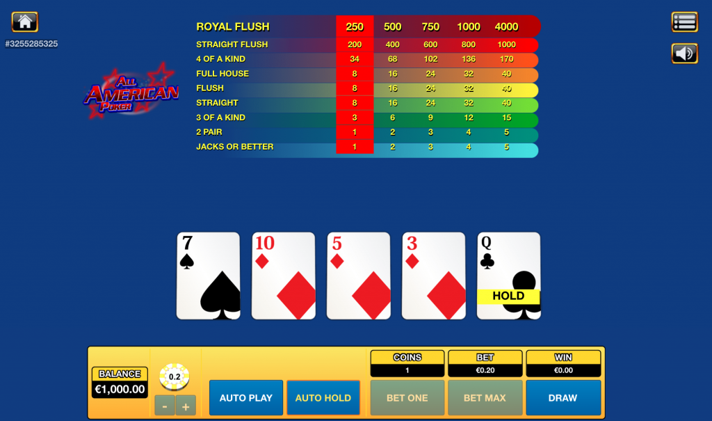 All American poker Bspin.io