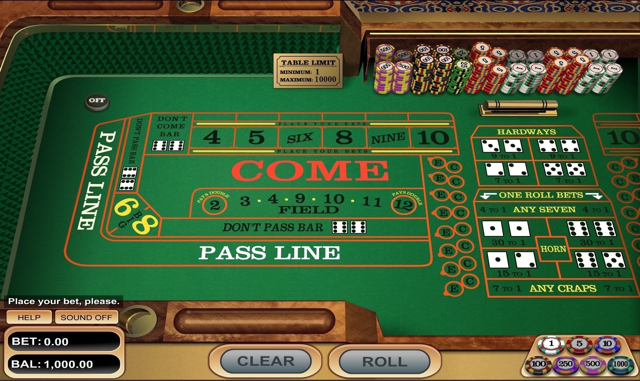 How to play craps on Bspin.io