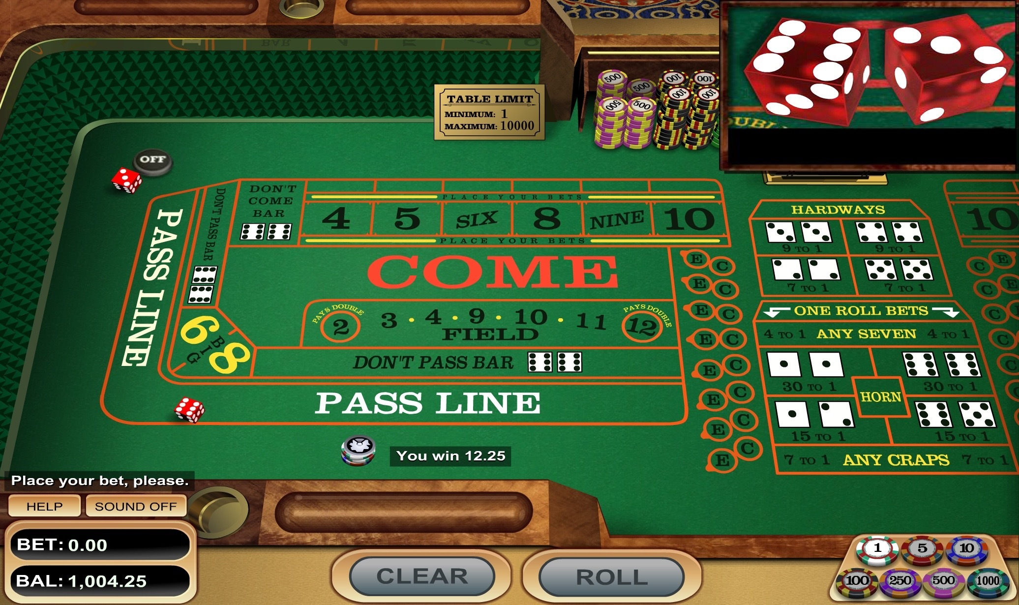 craps, how to play