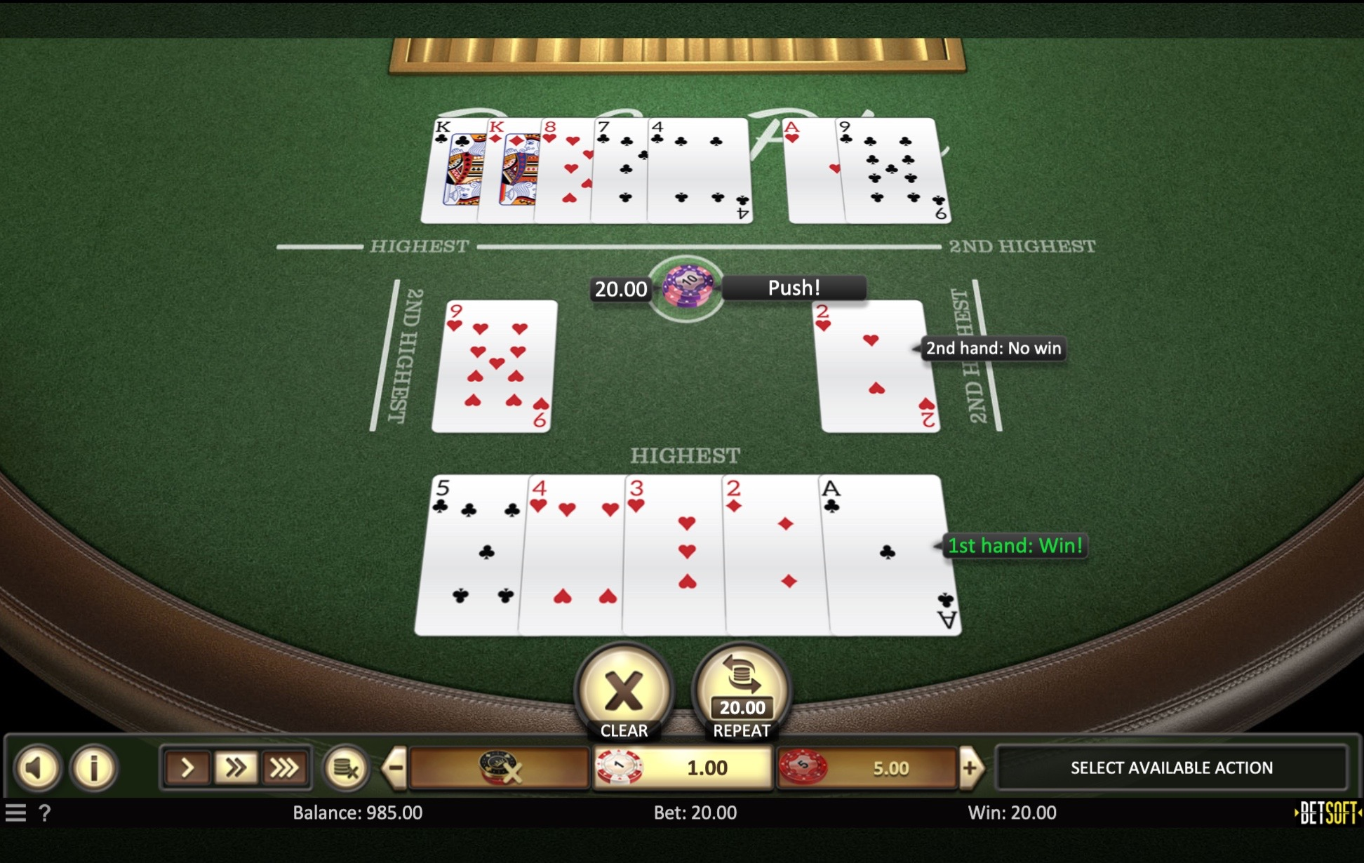 pai gow on bspin