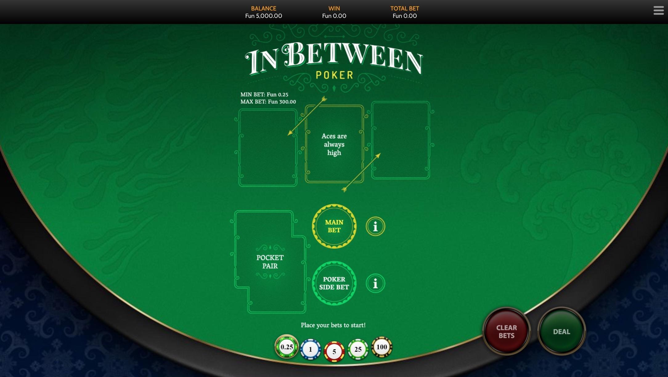 in between card game