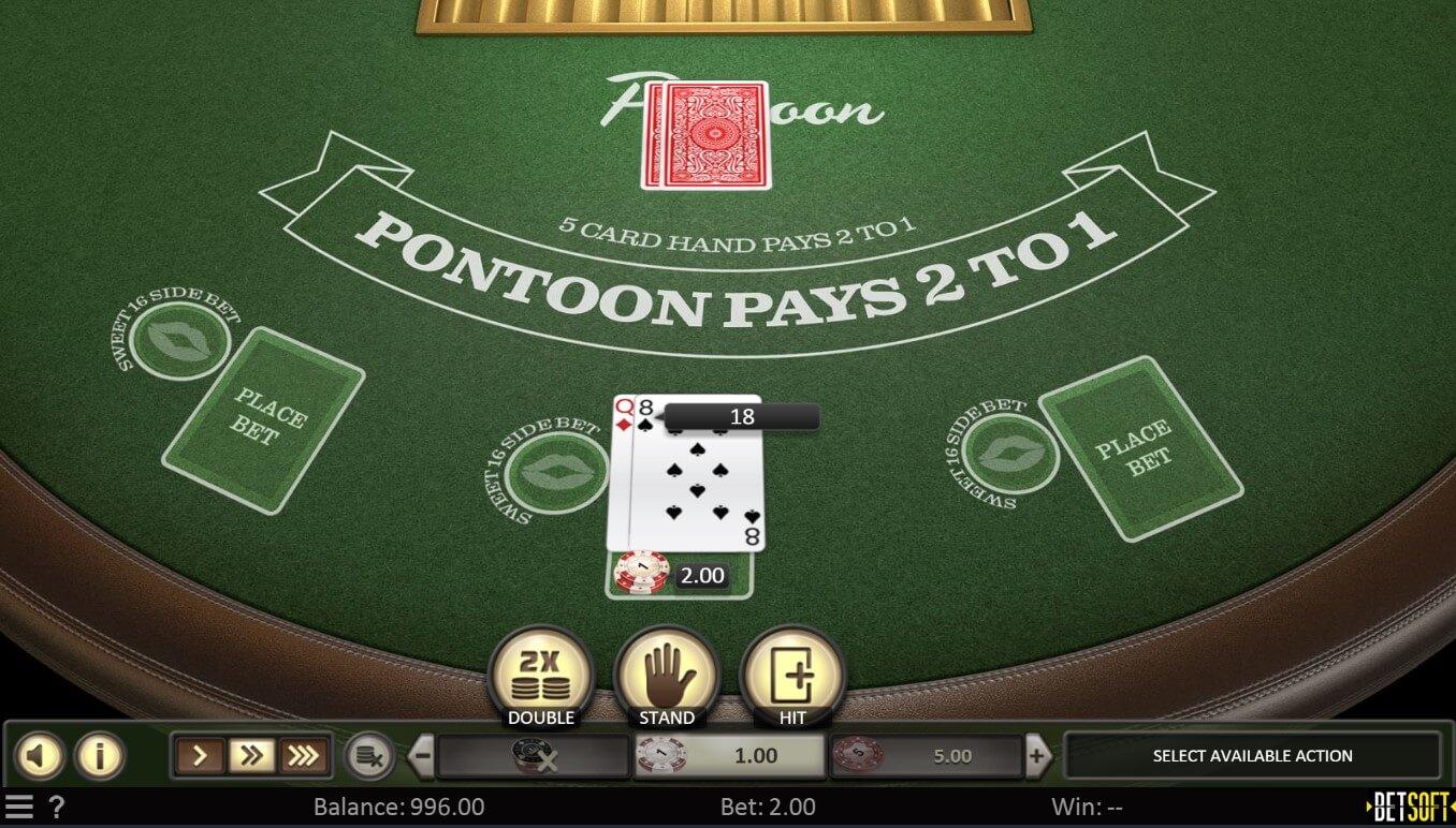 Pontoon card game gameplay