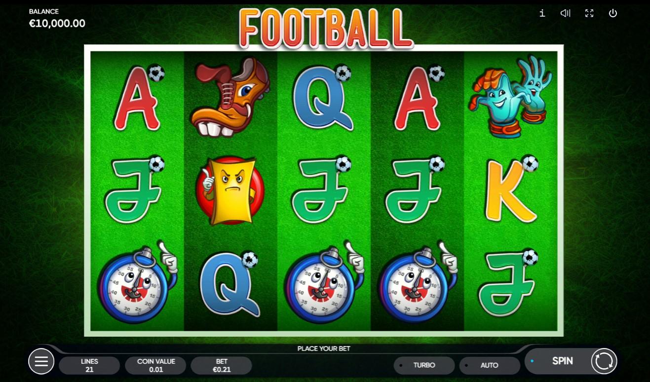 Football slots gameplay